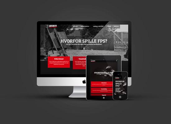 Billede af Aarhus Hardballbanes hjemmeside - branding og identitet