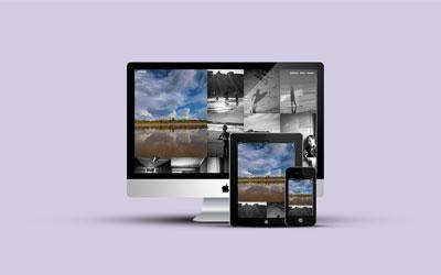 Billede af hjemmeside under design og multimedier