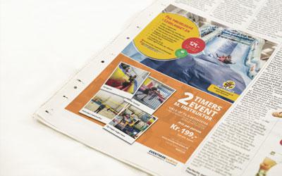 Billede af print-annonce i avis
